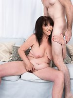 71-year-old Christina\'s first on-camera XXX